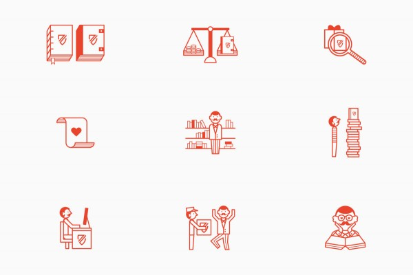 Zeichen & Wunder also created an icon set that can be used along the whole brand identity.