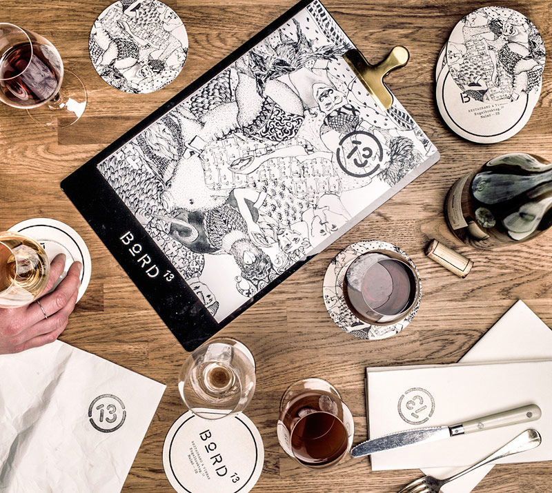 Bord 13 – Restaurant & Wine Bar Identity by Snask