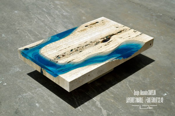 The LAGOON coffee table from La Table.