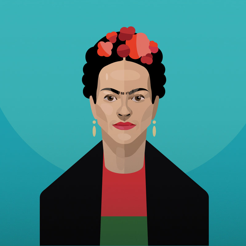 celebrities vector portraits by irina kruglova