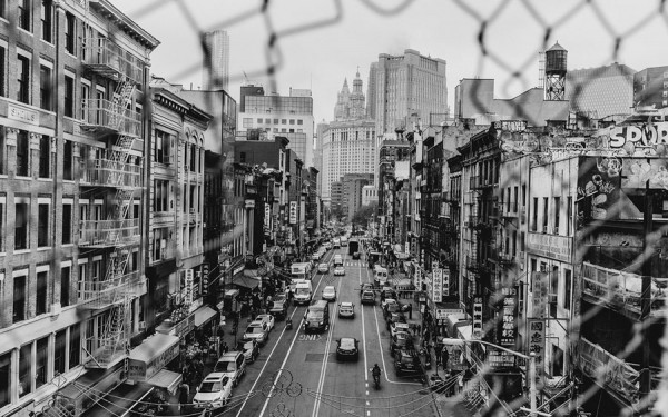 A great view of Chinatown in Lower Manhattan.