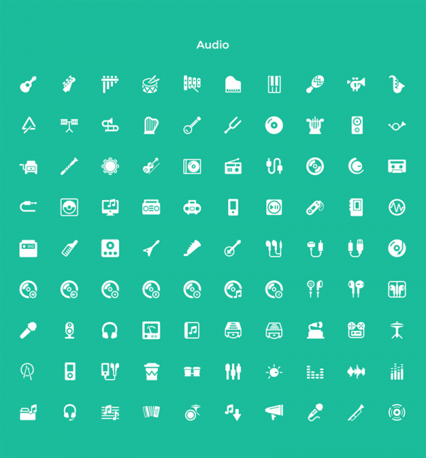 The set of Audio pictograms.