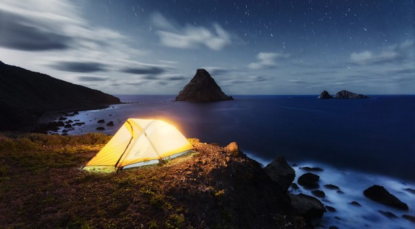 Camping in a breathtaking nature with a stunning view of the Atlantic Ocean.