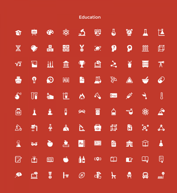 The minimalist Education graphics.