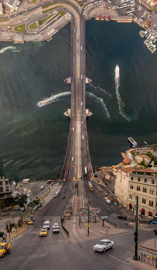 Inception meets Istanbul, Turkey, a complete city rolled like a sheet of paper.