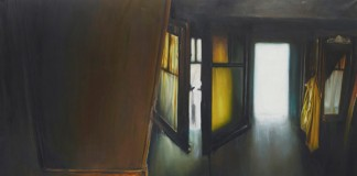 La garçonnière n°1 – Painting by Leopold Rabus from 2014.