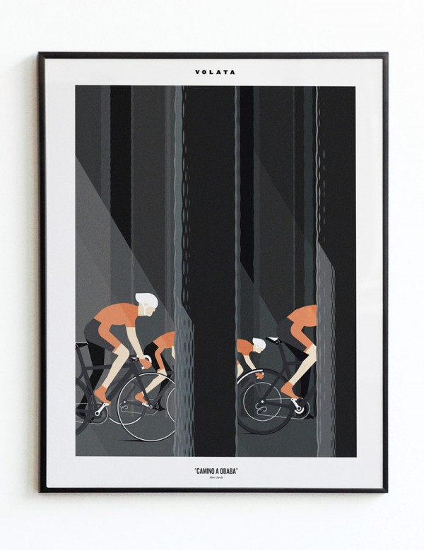Marc Sardà is paying homage to Euskaltel-Euskadi cycling team and Bernardo Atxaga's (basque writer) imaginary world.