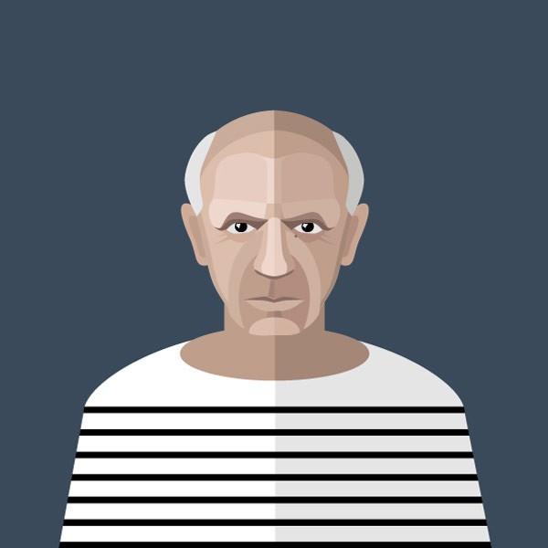 Pablo Picasso – vector illustration.