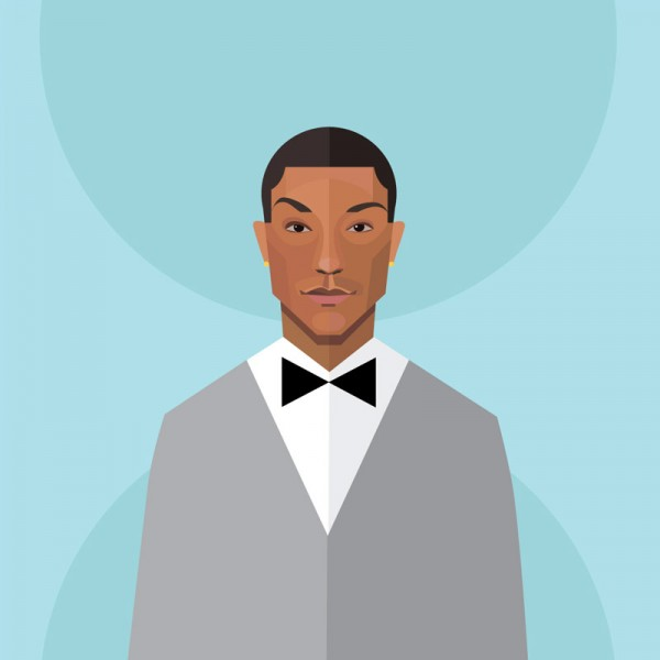 Pharrell Williams artwork by Irina Kruglova.