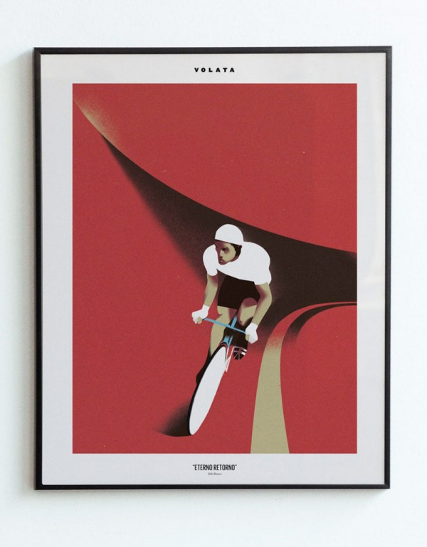 Riki Blanco created this artwork as a tribute to Francesco Moser's 1984 hour record. This cover won the Award of Excellence 2015 by Communication Arts.