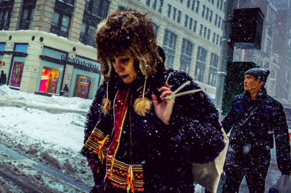 The New York City record blizzard beautifully captured by street photographer Michele Palazzo.