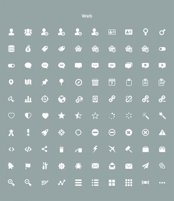 Flat Web icons.