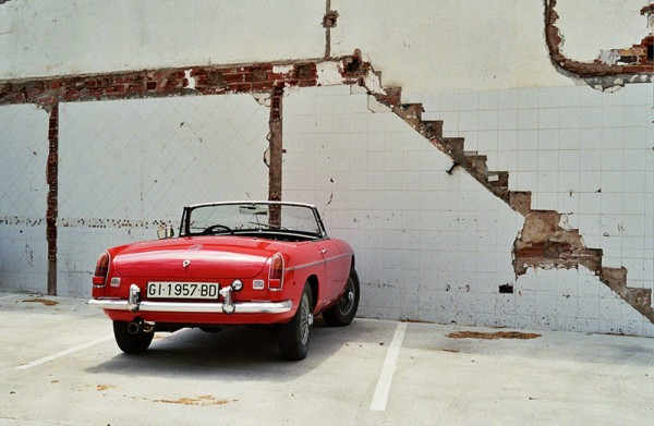 Whose red car is that? Photo by Irena Fabri.