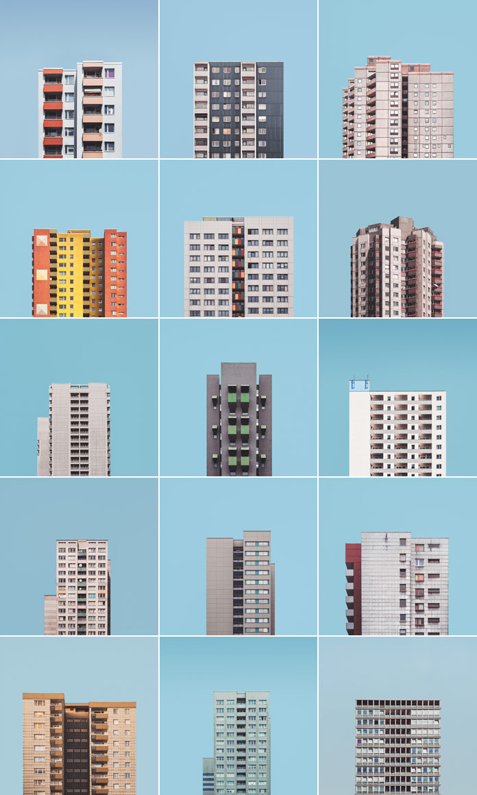 """Stacked"" is a photo project by Malte Brandenburg about the large post-war housing estates in Berlin."