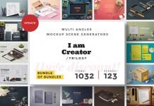 I am Creator Trilogy – Adobe Photoshop multi angles scene generators consisting of 1032 items and 123 scenes.