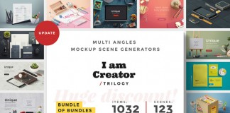 I am Creator Trilogy – Adobe Photoshop multi angles scene generators consisting of 1032 items and 123 scenes.