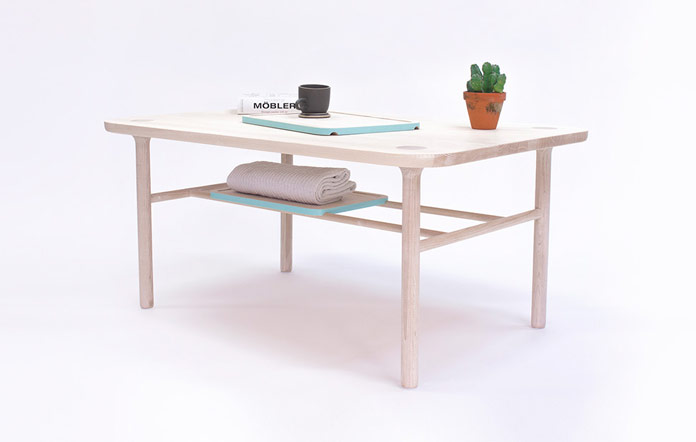 The KT-1 table of the Kaaja Collection has been designed by Carlos Jiménez.