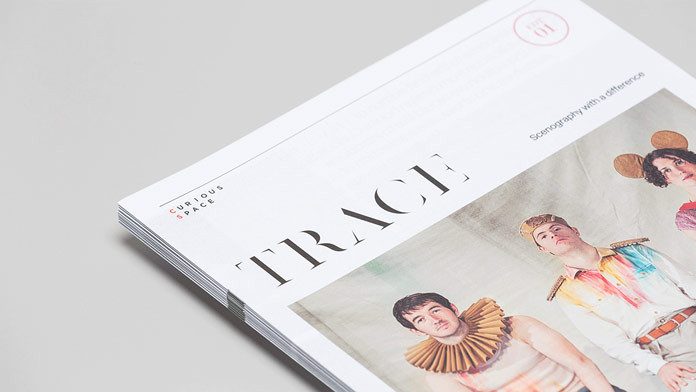 The Trace self promotional magazine has been designed as a collaborative project by Mash Creative and Socio Design.