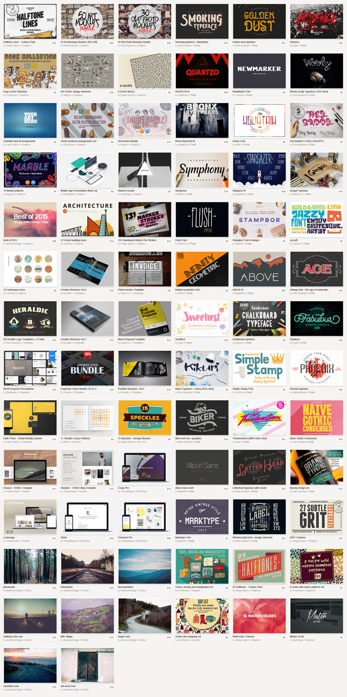 This February Big Bundle is a very special a Valentine's Day gift from Creative Market.