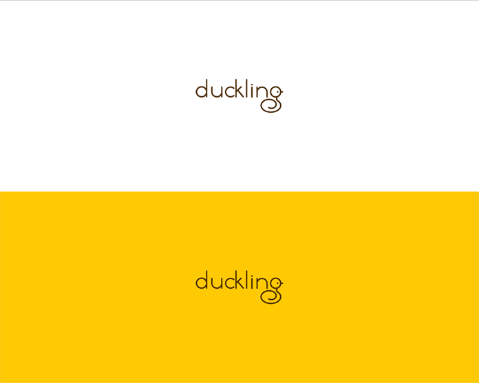 A cute duckling lettering.