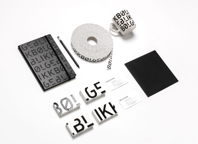 A new corporate identity developed by studio Tank for architectural firm, BØLGEBLIKK.