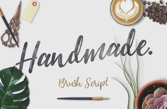 It's a natural handmade brush script font with great contrast between thick and thin curves.