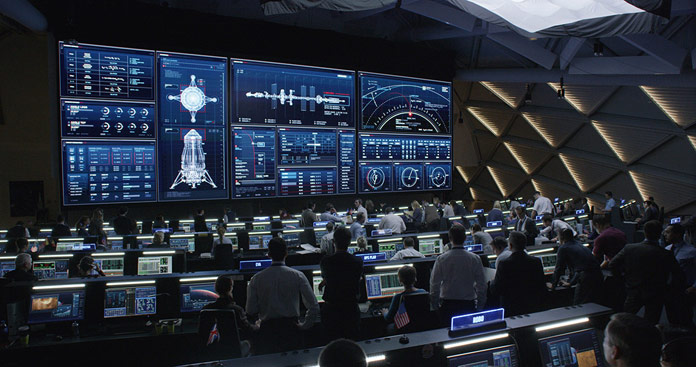 "Screen graphics by London based Territory studio used in the Oscar nominated film ""The Martian""."