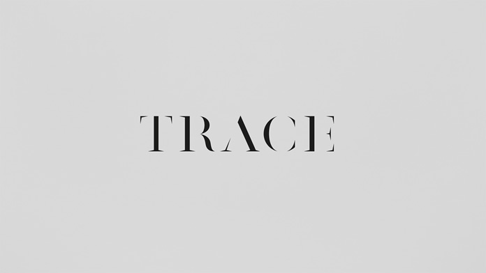 The Trace logotype is based on an exaggerated classic serif font.