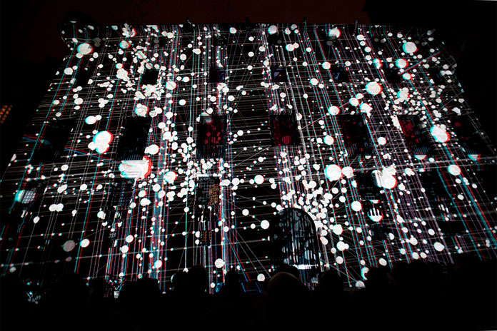 The mapping has been shown at LLUM BCN, a festival in which light and tradition come together.