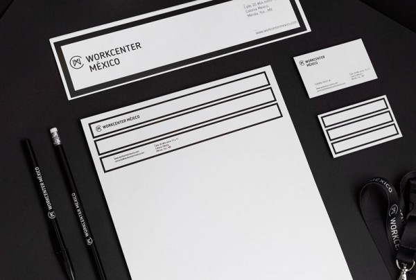 Agency Bienal has created the whole brand identity including this stationery set.