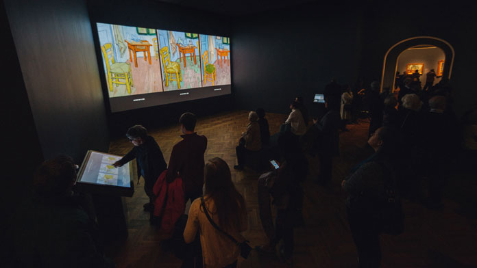 Philadelphia-based creative agency Bluecadet has developed a cinematic, projection-mapped recreation of Vincent Van Gogh's bedroom at Arles.