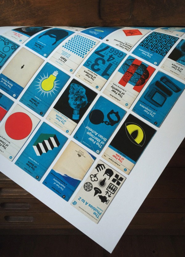 The print is inspired by the design and aesthetic of 1960s Pelican book covers.