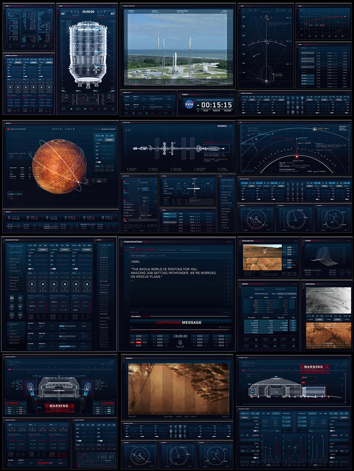 "Using Adobe Creative Cloud, London based Territory studio has created a range of screen graphics for the movie ""The Martian""."