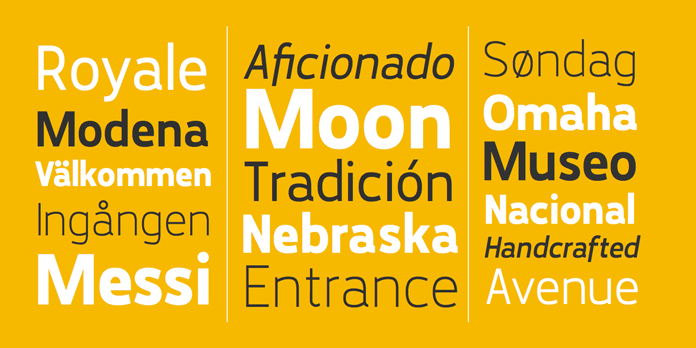 The Karlsen font family is made up of 14 styles.