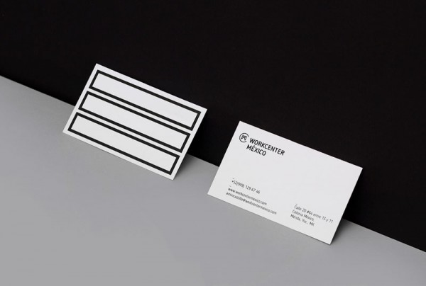 Two-sided business cards based on simple graphic design and typography.