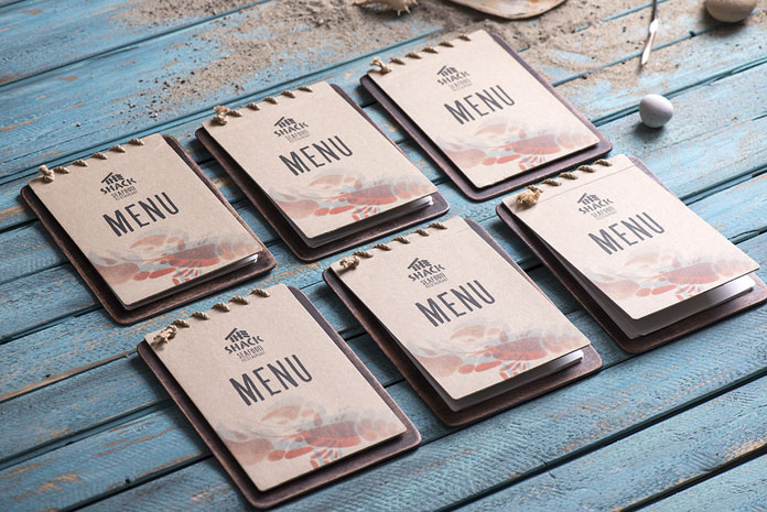The Shack menus. The entire visual identity provides a friendly and natural look.