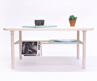The KT-1 table of the modern and clean designed Kaaja Collection.