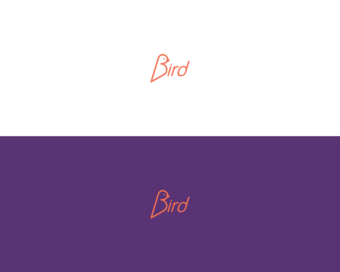 """B"" like ""bird"" lettering. What simple and clever design with a little type treatment."