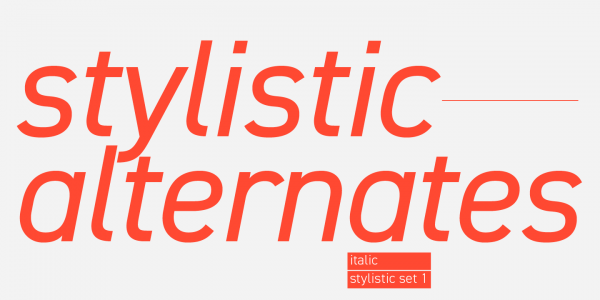 Check out the list of stylistic alternates.