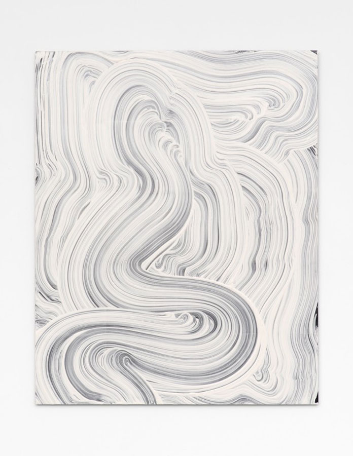 Mop painting created by New York City based artist Evan Robarts.