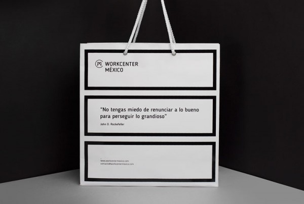 Also a range of paper bags have been design in the typical brand identity.