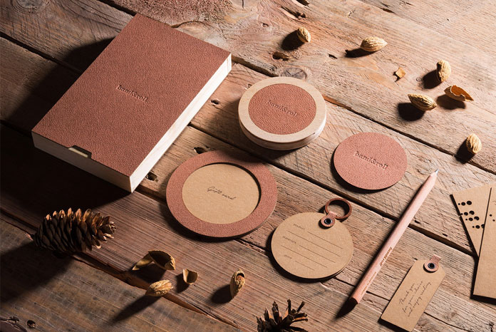 Studio Eskimo has developed an identity and packaging system using only natural materials such as leather.