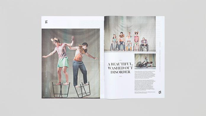 Utilising large images and text areas, the publication provides lots of information about all projects and shows.