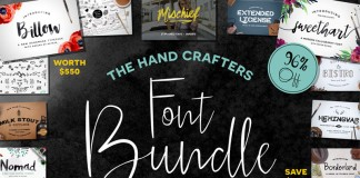 A font bundle consisting of handcrafted typefaces by Michael Gilliam of Flycatcher Design.
