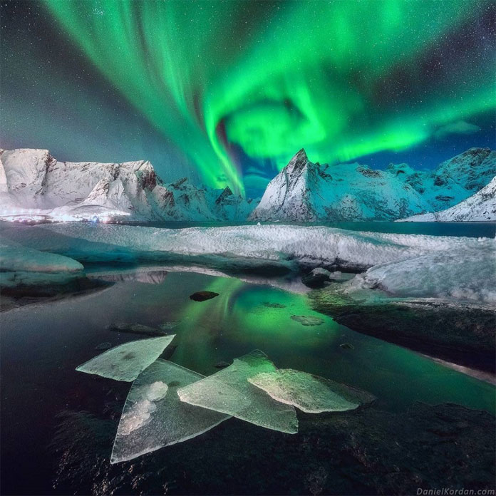 An amazing shot from the first night of Daniel Kordan's photo workshop at Lofoten islands.