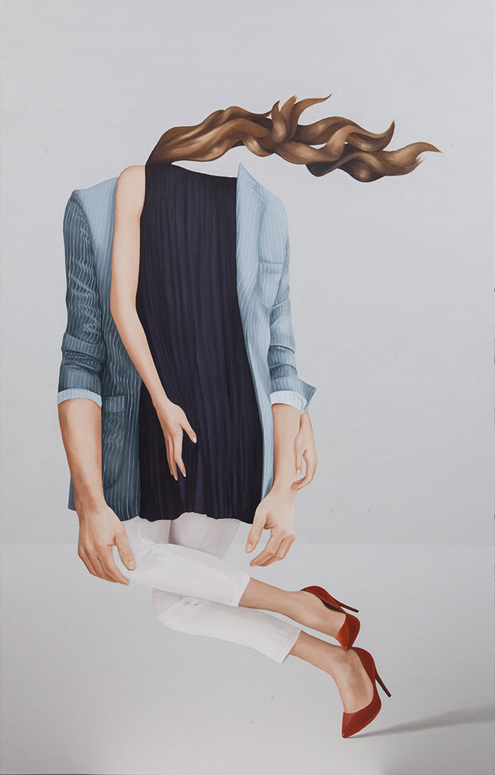 Before boredom sets in, artwork in the size of 185 x 120 cm by Eda Gecikmez.
