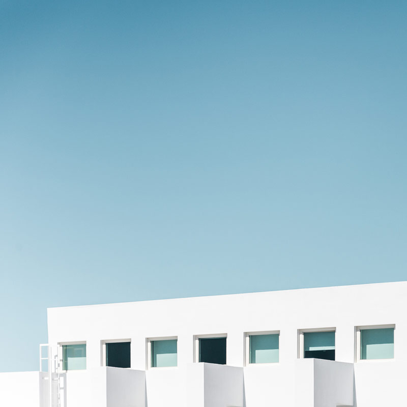 The minimalist architecture of Belem in Lisbon, Portugal, photographed in 2015.
