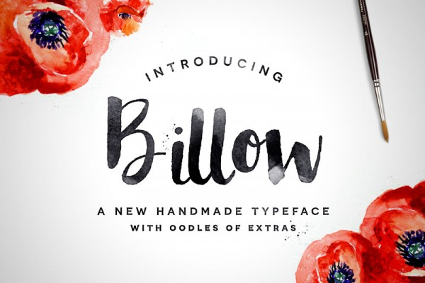 Billow is a new handmade brush typeface with oodles of extras.
