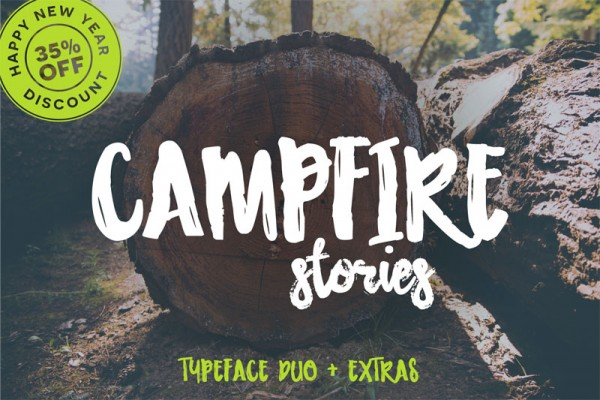 Campfire stories, a great typeface duo plus countless extras.