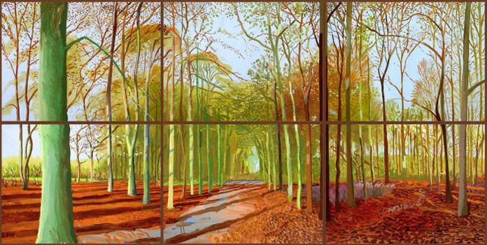 David Hockney – Woldgate Woods 21, 23 and 29 November 2006.